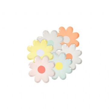 Daisy Shaped Mini Paper Canapé Plates